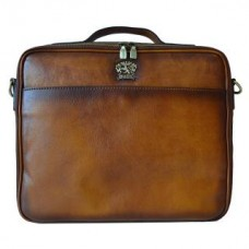 Italian Leather Carry-On Bag for Wheeled Luggage