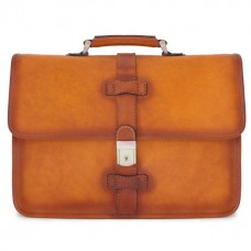 Briefcase Pratomagno In Cow Leather